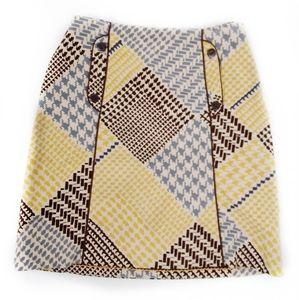 Anthro--Maeve Geometric Patterned Sz 2 Skirt